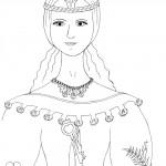 Princezna - omalovánky